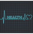 heartbeat make health word vector image vector image