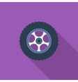 Icon car wheel vector image vector image