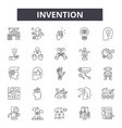 invention line icons signs set outline vector image vector image