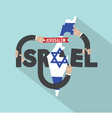 Israel Typography Design vector image vector image