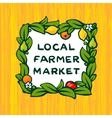 Local farmer market farm logo design vector image vector image