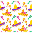 mexican sombrero seamless pattern vector image vector image