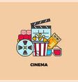 online cinema web movie service concept internet vector image