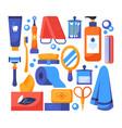 personal hygiene - set flat design style vector image