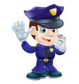 policeman character cartoon vector image