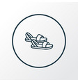 sandals icon line symbol premium quality isolated vector image vector image