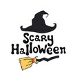 scary halloween theme handdrawn lettering phrase vector image