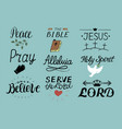 set of 9 hand lettering christian quotes jesus vector image vector image