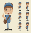 Set of postman vector image