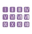 Set Roman numerals 1-12 icon vector image vector image