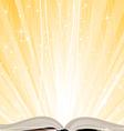 shining open book vector image