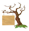 sign tree vector image