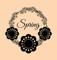 spring flowers crown vintage vector image