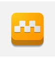square button taxi vector image vector image