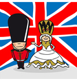 Welcome to England people vector image vector image