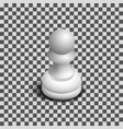 white chess piece pawn isometric vector image vector image
