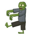 zombie on white background vector image