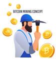 modern concept of digital crypto mining vector image
