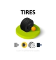 Tires icon in different style vector image