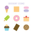 dessert icons vector image