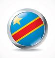 Democratic Republic of the Congo flag button vector image