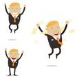 Happy Free Businessman vector image