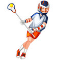 a male hockey character vector image