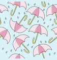 abstract handmade umbrella and drop seamless vector image vector image