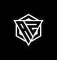 az logo monogram with triangle and hexagon shape vector image vector image