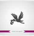 baby and stork icon simple vector image