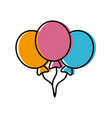 balloons flying decoration celebration element vector image vector image