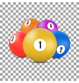balls for snooker and billiards in 3d style vector image
