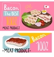 Barbecue bacon assorted on cutting board vector image vector image