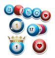 bingo stickers set2 vector image vector image