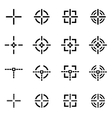 black crosshair icon set vector image vector image