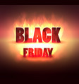 black friday sale banner with spotlight discount vector image vector image