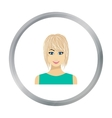 Blonde icon in flat style isolated on white vector image