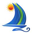 Boat symbol vector image vector image