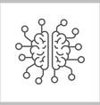 brain logo silhouette design template ai vector image vector image