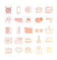 bright hobby icons vector image vector image