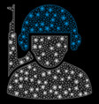 bright mesh carcass soldier with flash spots vector image vector image