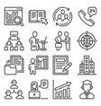 business agency icons set on white background vector image