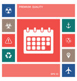 calendar symbol icon elements for your design vector image