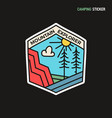 camping adventure sticker design travel hand vector image vector image