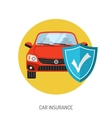 Car Insurance Flat Icon vector image