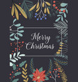 christmas and happy new year greeting cards with vector image vector image