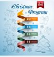 Christmas infographics vector image vector image