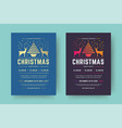 christmas party flyer event modern typography vector image