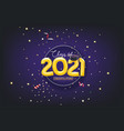 class 2021 card with confetti vector image