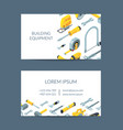 construction tools isometric icons business vector image vector image